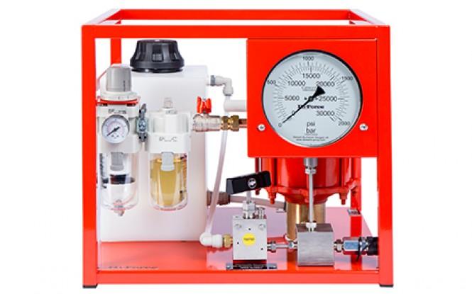 هیدروتست پمپ پنوماتیکی (بادی) هیدرولیکی 1500 بار فشارقوی مدل AHP-BTU-Range ساخت هایفورس انگلستان
