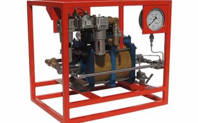 هیدروتست پمپ پنوماتیکی (بادی) هیدرولیکی دو سرعته 1489 بار فشارقوی مدل ATDP-Range ساخت هایفورس انگلستان
