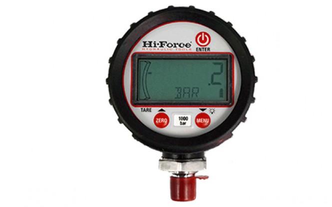 گیج دیجیتالی قابل برنامه ریزی با دقت بالا تا فشار 1000 بار مدل HDG-1-Range ساخت هایفورس انگلستان
