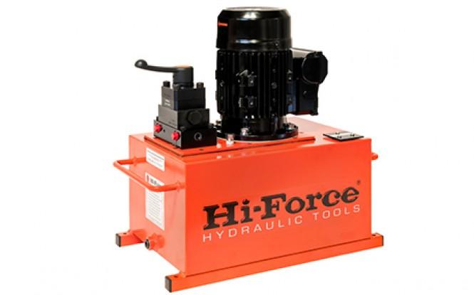 پمپ برقی (الکتریکی) هیدرولیکی تک فاز و سه فاز 700 بار دو سرعته مدل HEP3-Range ساخت هایفورس انگلستان