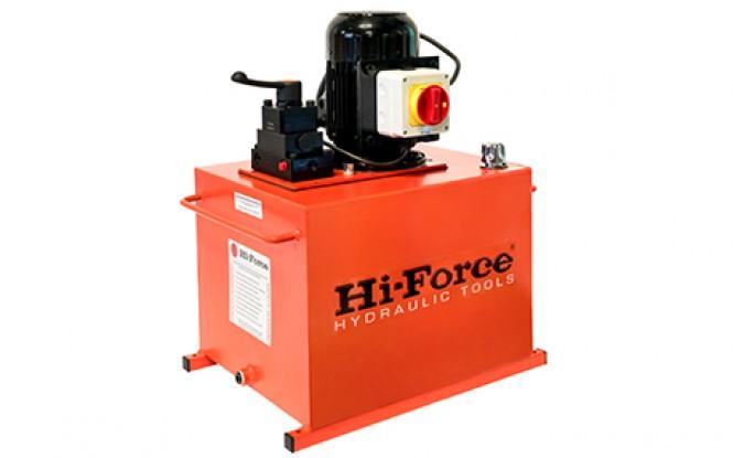 پمپ برقی (الکتریکی) هیدرولیکی دبی بالا تک فاز و سه فاز 700 بار دو سرعته مدل HEP5-Range ساخت هایفورس انگلستان