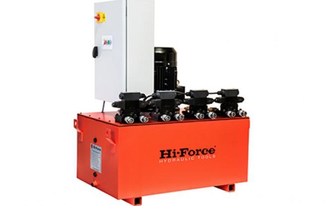 پمپ برقی (الکتریکی) هیدرولیکی با خروجی چندگانه 700 بار دو سرعته مدل HSP-Range ساخت هایفورس انگلستان