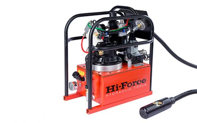 پمپ پنوماتیکی (بادی) هیدرولیکی 700 بار دو سرعته با شیر تنظیم فشار مدل HTWP-Range ساخت هایفورس انگلستان