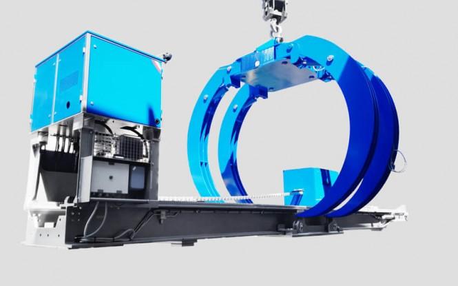 هوک (چنگک) چند منظوره جهت بلند کردن باندل با توان 16000 وات مدل POLY ARCH - 55 TON ساخت ایدروجت ایتالیا