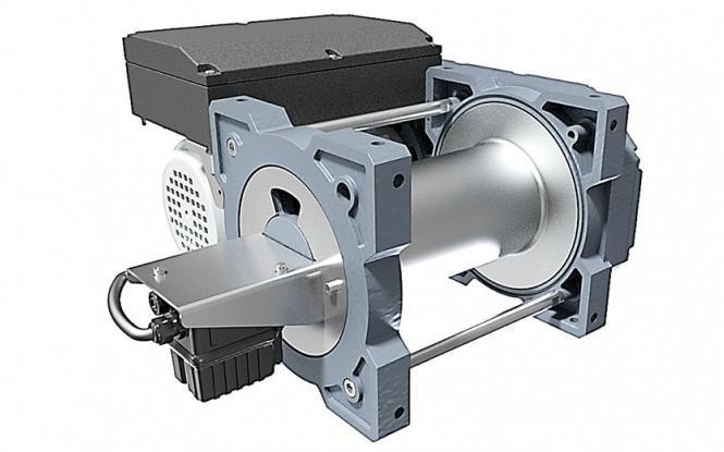 وینچ کشنده برقی الکتریکی با ظرفیت 990 کیلوگرم مدل TRBoxter INOX stainless steel version 990 kg ساخت هوچز فرانسه