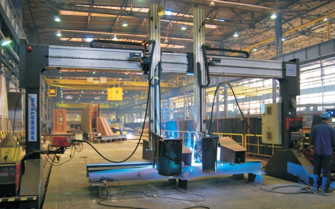 جوش دروازه ای 5 محور مدل GWS ساخت پروموتک لهستان