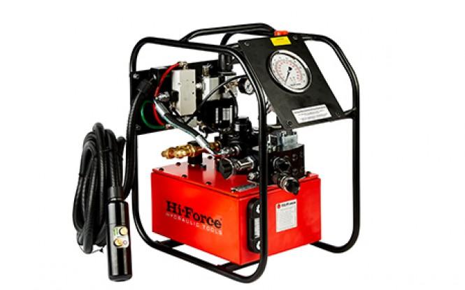 پمپ پنوماتیکی (بادی) هیدرولیکی 700 بار دو سرعته با شیر تنظیم فشار مدل TPA-Range ساخت هایفورس انگلستان