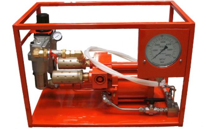 هیدروتست پمپ پنوماتیکی (بادی) هیدرولیکی 700 بار فشارقوی مدل AHP3-Range ساخت هایفورس انگلستان