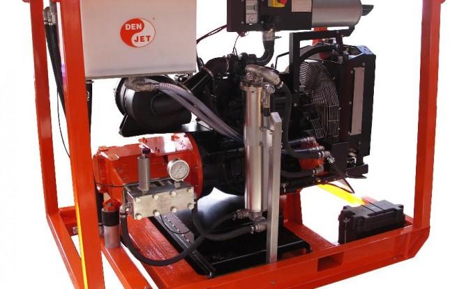 واترجت دیزلی 2050 بار فشارقوی جهت شستشو و رسوب زدایی صنعتی مدل CD-100 ساخت دن جت دانمارک