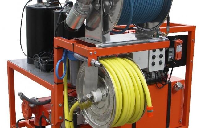 واترجت دیزلی تریلردار 2000 بار فشارقوی جهت شستشو و رسوب زدایی صنعتی مدل CDT-50 ساخت دن جت دانمارک