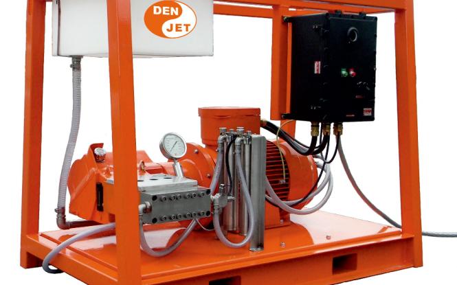 واترجت الکتریکی برقی 2100 بار جهت رسوب زدایی و شستشوی صنعتی مدل CEX-100 ساخت دن جت دانمارک
