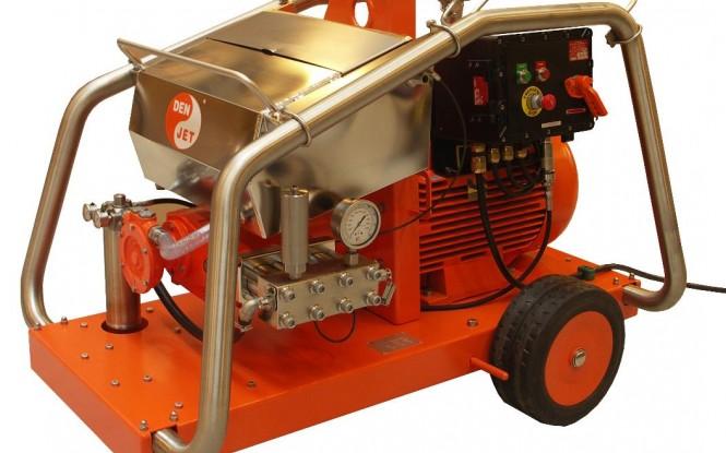 واترجت الکتریکی برقی 2000 بار جهت رسوب زدایی و شستشوی صنعتی مدل CEX-40 ساخت دن جت دانمارک