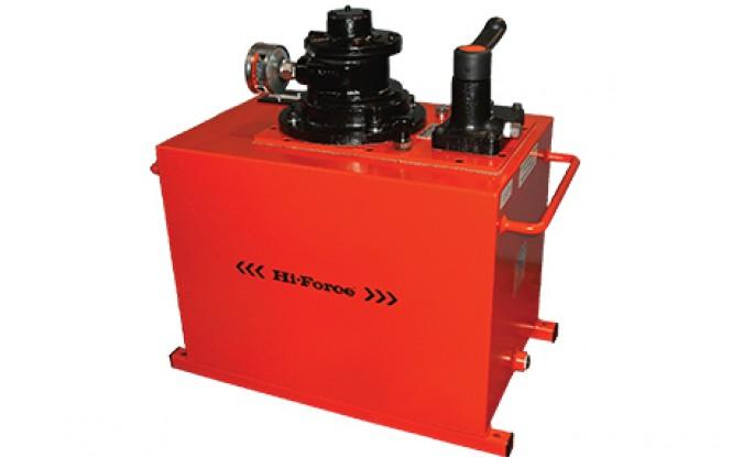 پمپ پنوماتیکی (بادی) هیدرولیکی 700 بار دو سرعته با شیر تنظیم فشار مدل HAP-Range ساخت هایفورس انگلستان