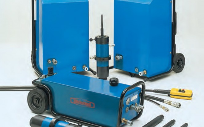 تیوب پولر تمام اتوماتیک هیدرولیکی پنوماتیکی (بادی) پرتابل با ظرفیت 30 تن مدل HETP-30 ساخت ویکستید انگلستان