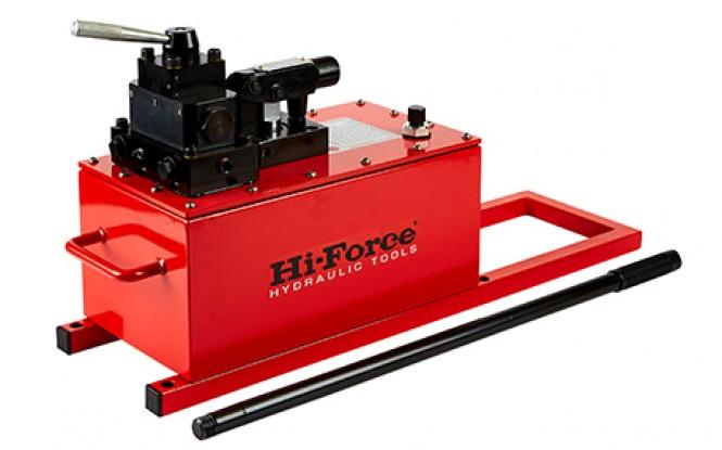 پمپ دستی هیدرولیکی 700 بار دو سرعته دبی بالا مدل HP High Flow-Range ساخت هایفورس انگلستان