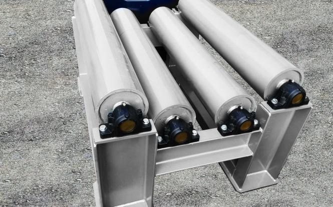 چرخاننده هیدرولیکی مبدل قابل تنظیم جهت رسوب زدایی با توان 35 تن مدل Heavy duty roller ساخت ایدروجت ایتالیا