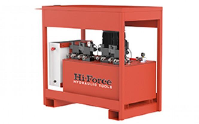 پمپ هیدرولیکی 700 بار سنکرون سه فاز با ظرفیت 4 تا 8 دستگاه مدل SLF-Range ساخت هایفورس انگلستان