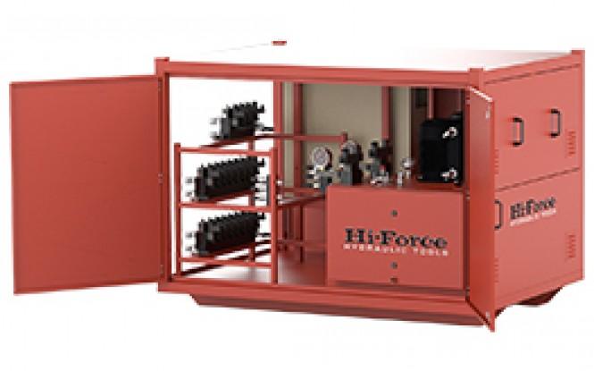 پمپ هیدرولیکی 700 بار سنکرون سه فاز با ظرفیت 8 تا 32 دستگاه مدل SLV-Range ساخت هایفورس انگلستان