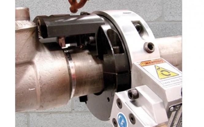 ابزارآلات جانبی و تجهیزات مرتبط با لوله بر و پخ زن مخصوص فک جدا مدل SDSF Small Diameter Split Frame Tooling ساخت وش آمریکا