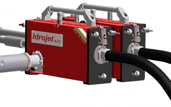 ربات پنوماتیکی (بادی) وات جهت رسوب زدایی داخلی مبدل بصورت دستی با 5 لنس مدل IDROBOX ساخت ایدروجت ایتالیا