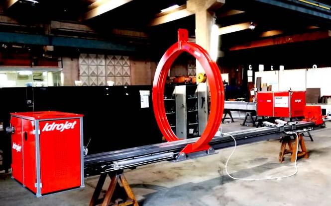جازنی و کشیدن هیدرولیکی باندل با ظرفیت 15 تن و فشار 200 بار مدل PULL AND PUSH ساخت ایدروجت ایتالیا