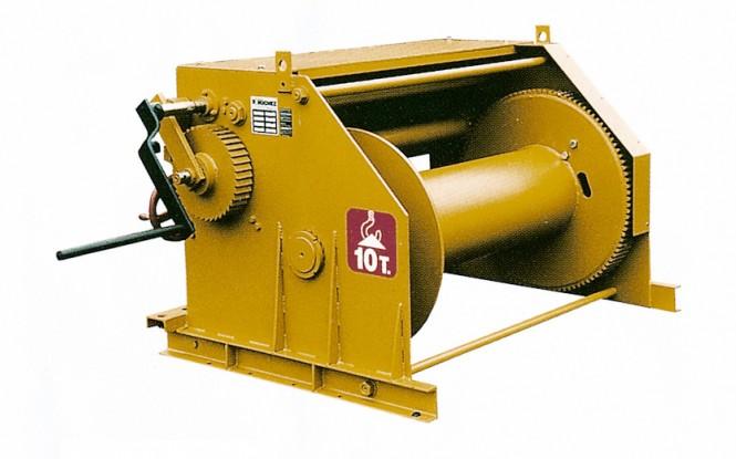 وینچ دستی کشنده عمودی با ظرفیت 10000 کیلوگرم مدل 659 winch ساخت هوچز فرانسه